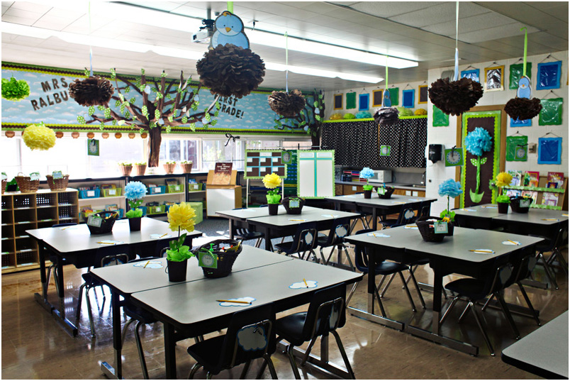 Elementary Classroom Decorations ~ Middle school classroom students touching ruining things