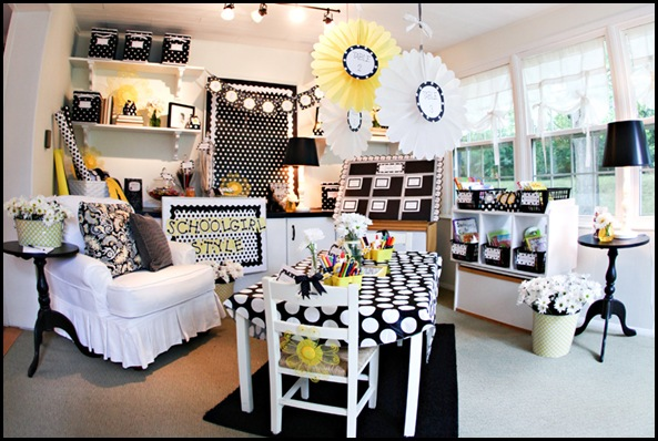 Classroom Decor Inspiration ~ Polka dots and daisies schoolgirlstyle
