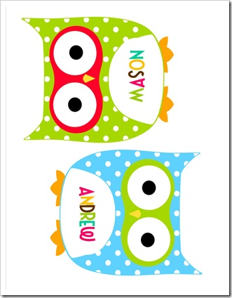 owl cutout tags
