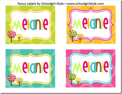 owl fancy labels