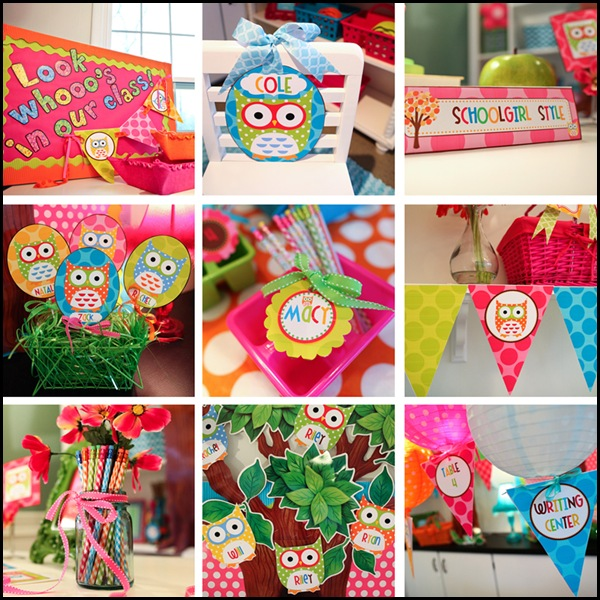 Cute Owl Classroom Decorations ~ The owl collection part two schoolgirlstyle