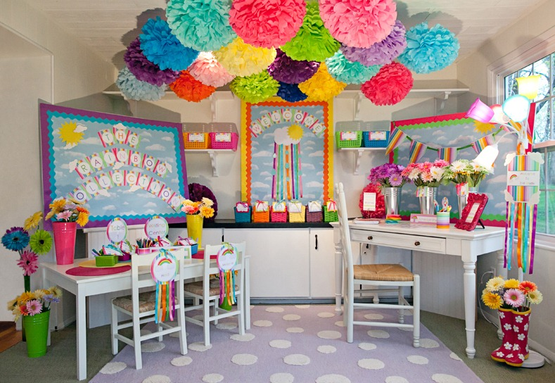 Beautiful Classroom Decoration Ideas ~ The rainbow collection schoolgirlstyle