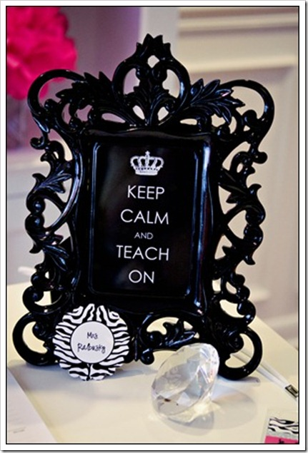 keep calm and teach on print pic