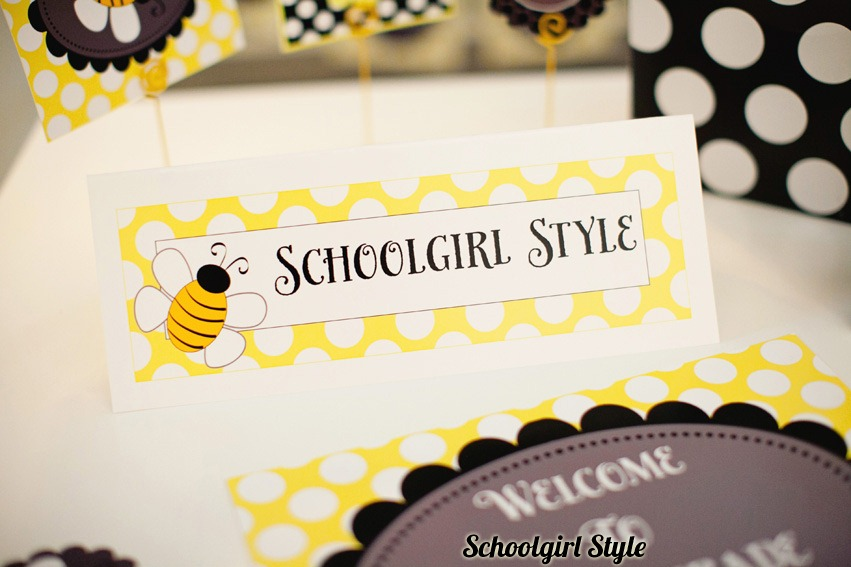 Eccampbellphotography SGS Bees17 Nameplates And A Pretty Door Sign Compliment Your Bee Themed Classroom Bees18