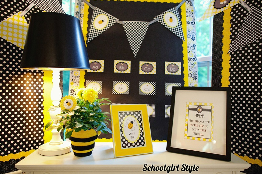 Yellow Classroom Decor ~ The happy honeybee collection schoolgirlstyle
