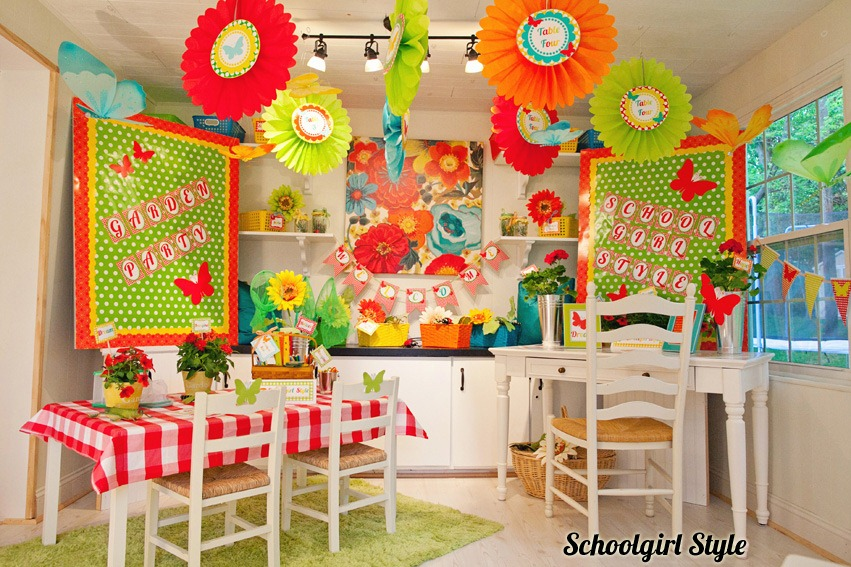 Beautiful Classroom Decoration Ideas ~ Garden party schoolgirlstyle