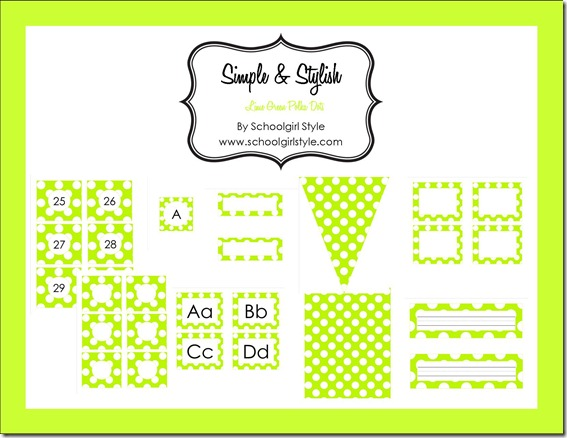 simple and Stylish blog board lime green pastel blog board