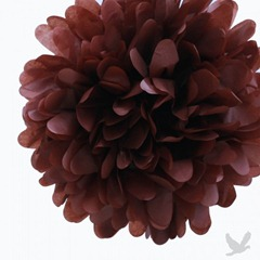brown tissue paper pom poms