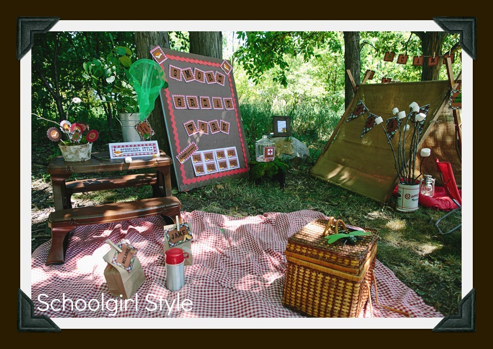 Camping Classroom Decoration ~ Introducing…camp learn a lot schoolgirlstyle