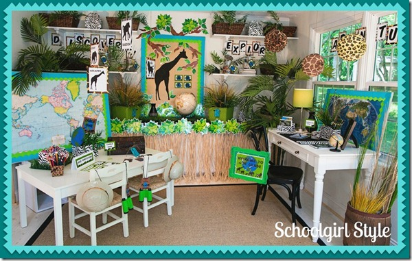 Jungle Classroom Decoration Ideas ~ The animal adventure collection schoolgirlstyle