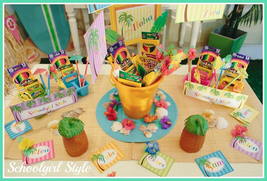 Beach Pail Party Favors Saying Thank You For Coming: SchoolgirlStyle