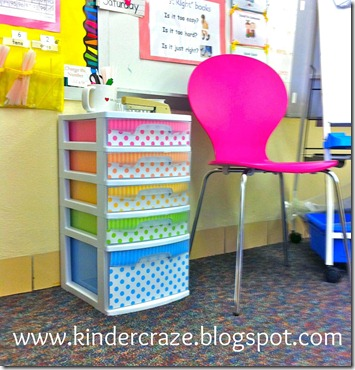 polka dot sterlite drawers