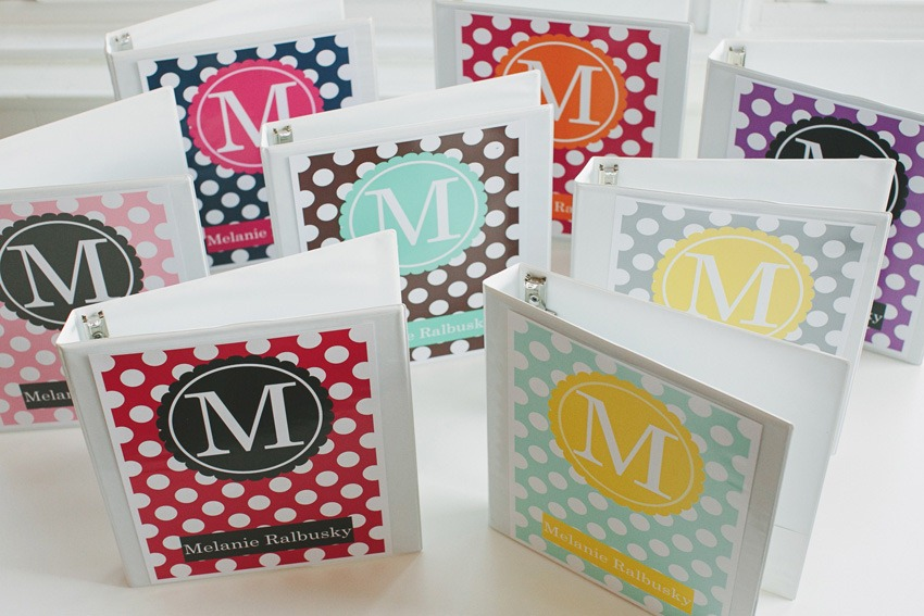 picture relating to Free Printable Monogram Binder Covers named Monogram Binder Addresses - SchoolgirlStyle