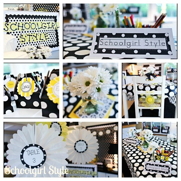 polka dots and daisies collage