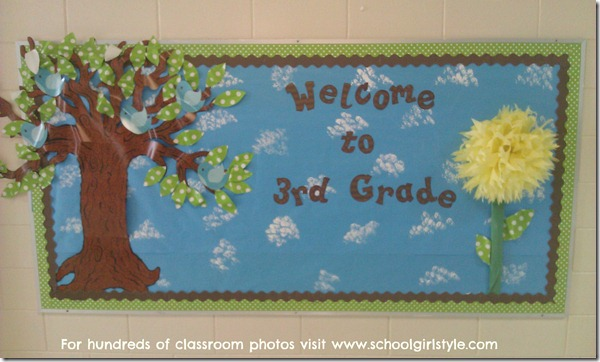 Bird Theme bulletin board idea Schoolgirl Style