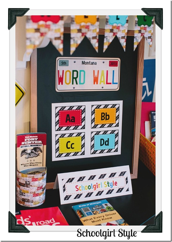 Classroom Decor by Schoolgirl Style Road Trip 24