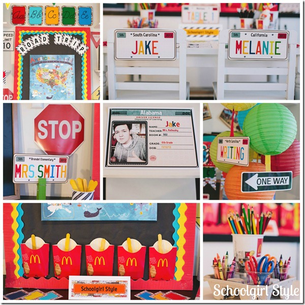 Classroom Decorating themes by Schoolgirl Style Road Trip