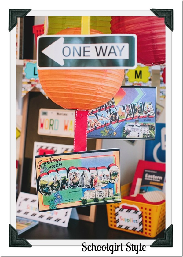 Classroom themes by Schoolgirl Style Road Trip 19