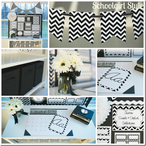 Black and White Chevron Classroom Decor Themes by Schoolgirl Style