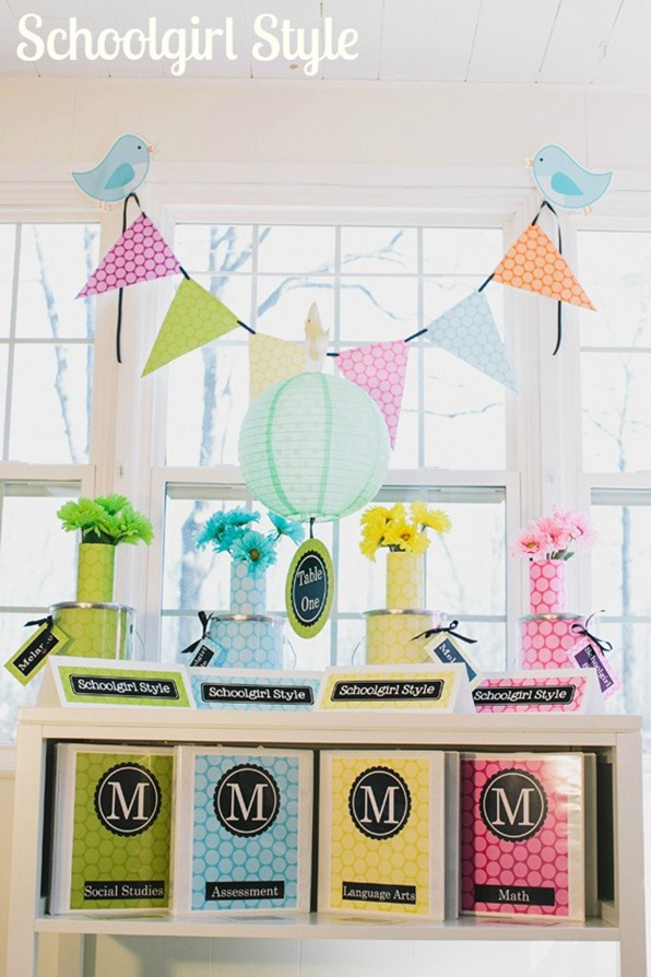 Yellow Classroom Decor ~ Polka dot party schoolgirlstyle