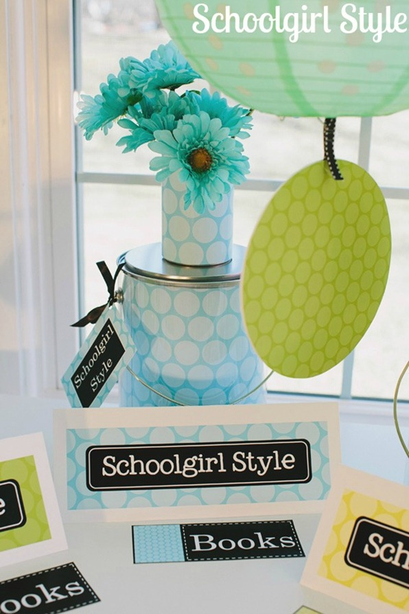 Green Classroom Decor ~ Polka dot party schoolgirlstyle