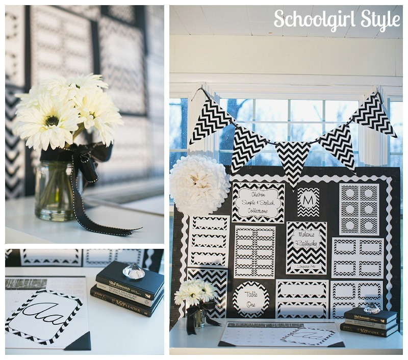 Classroom Decor Black And White : Chevron chic classroom collections schoolgirlstyle
