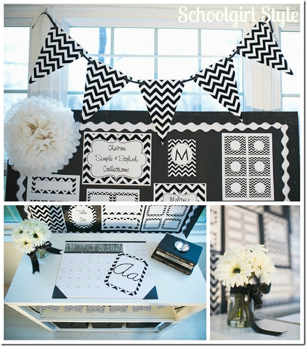 chevron classroom decor and organization by Schoolgirl Style