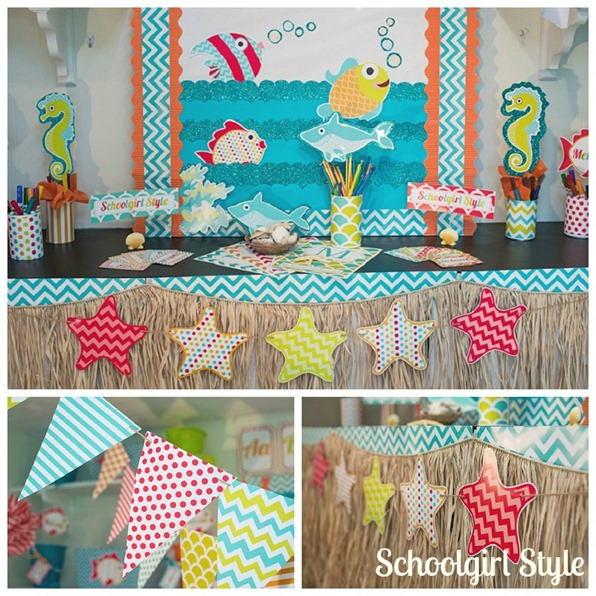 Ocean Classroom Decor ~ By the sea schoolgirlstyle