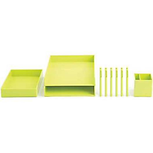 lime green desk