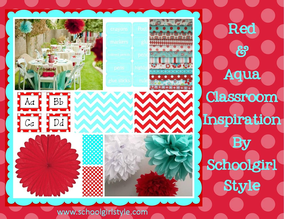 Red and Aqua LOVE