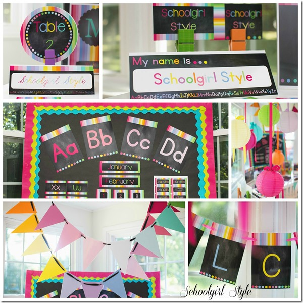 Rainbow Chalkboard Collage1 by Schoolgirl Style