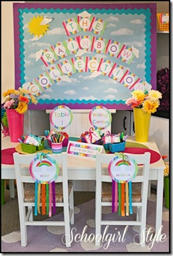 Rainbow Collection classroom decor by Schoolgirl Style