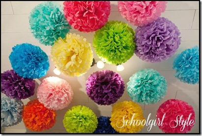 Rainbow collection colorful poms classroom decor by Schoolgirl Style