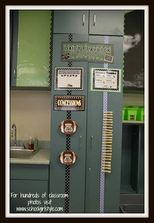 Hollywood Classroom Decor ~ Sports theme classroom inspiration schoolgirlstyle