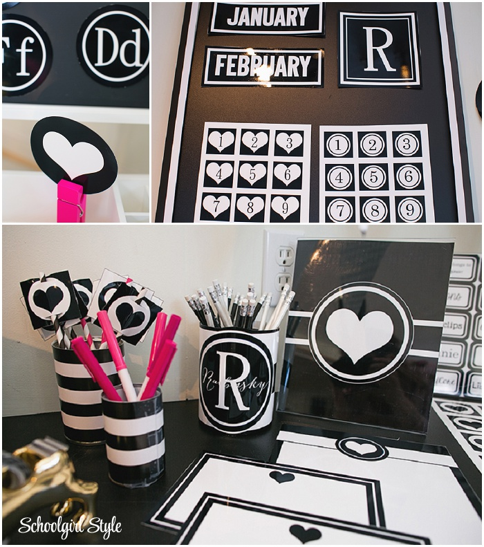 Black And White Classroom Decor  from www.schoolgirlstyle.com