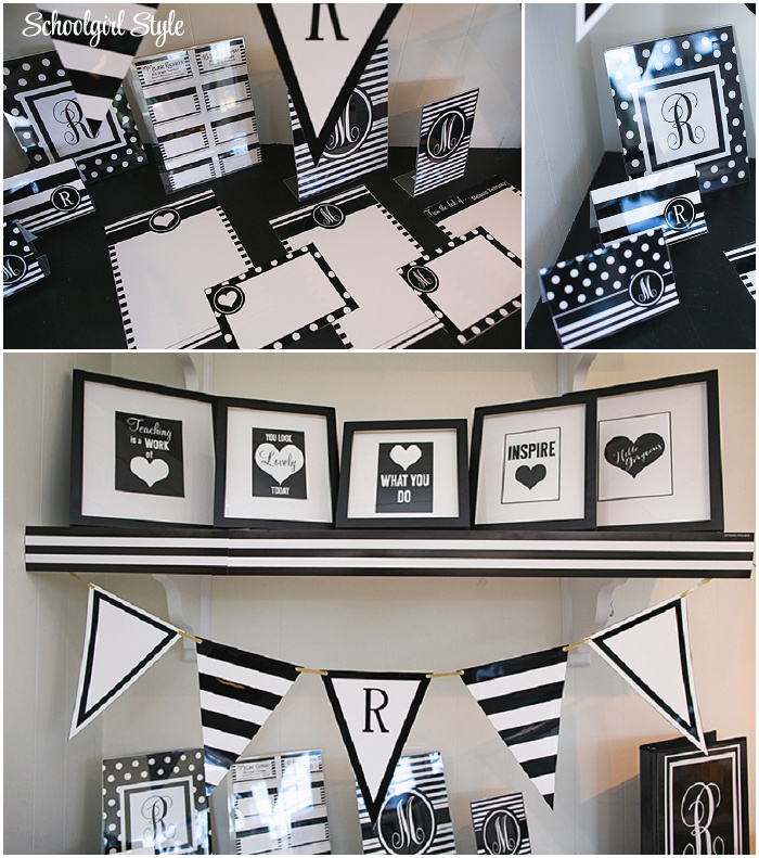 Classroom Decor Black ~ I heart school classic black and white schoolgirlstyle