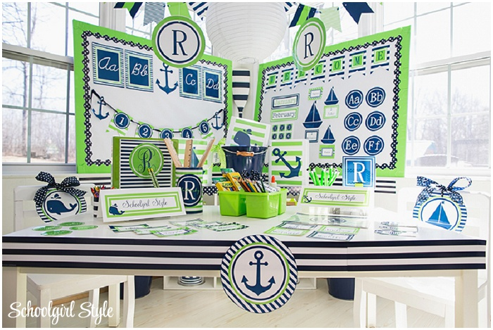 Navy Classroom Decor : Classroom decorations in navy and lime pictures to pin on