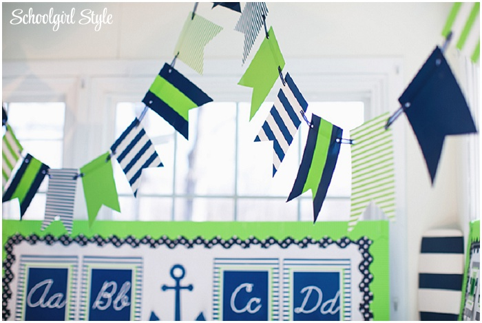 Use banners along windows, whiteboards, or criss cross them over the center of your room to pull your theme together!