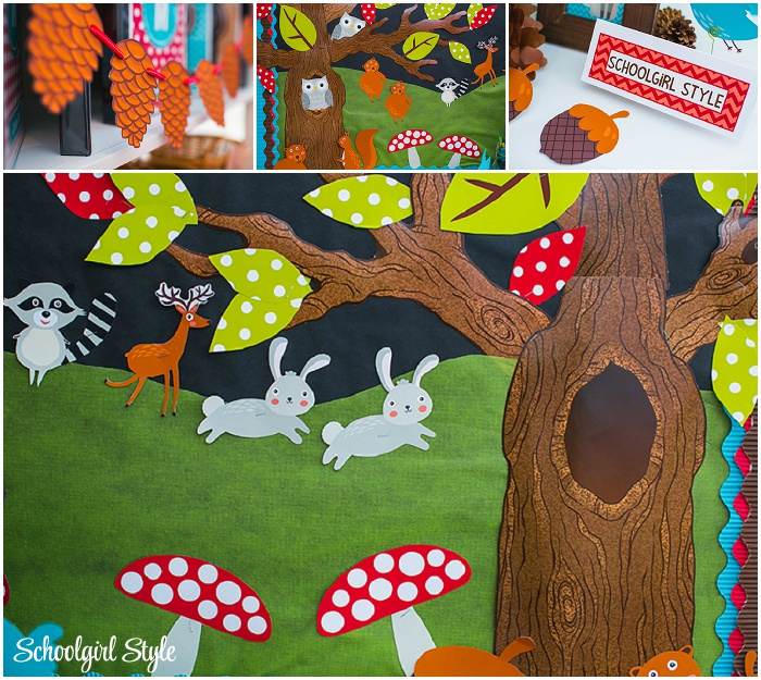 Classroom Decorating Forest Theme ~ Woodland animals classroom theme schoolgirlstyle