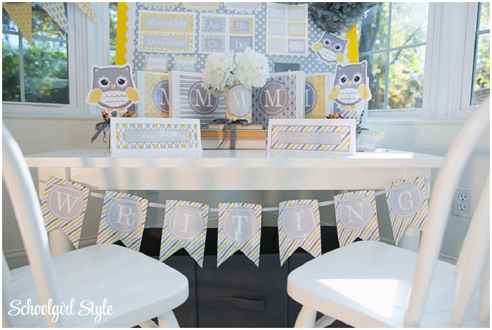 Yellow and Gray Classroom Theme