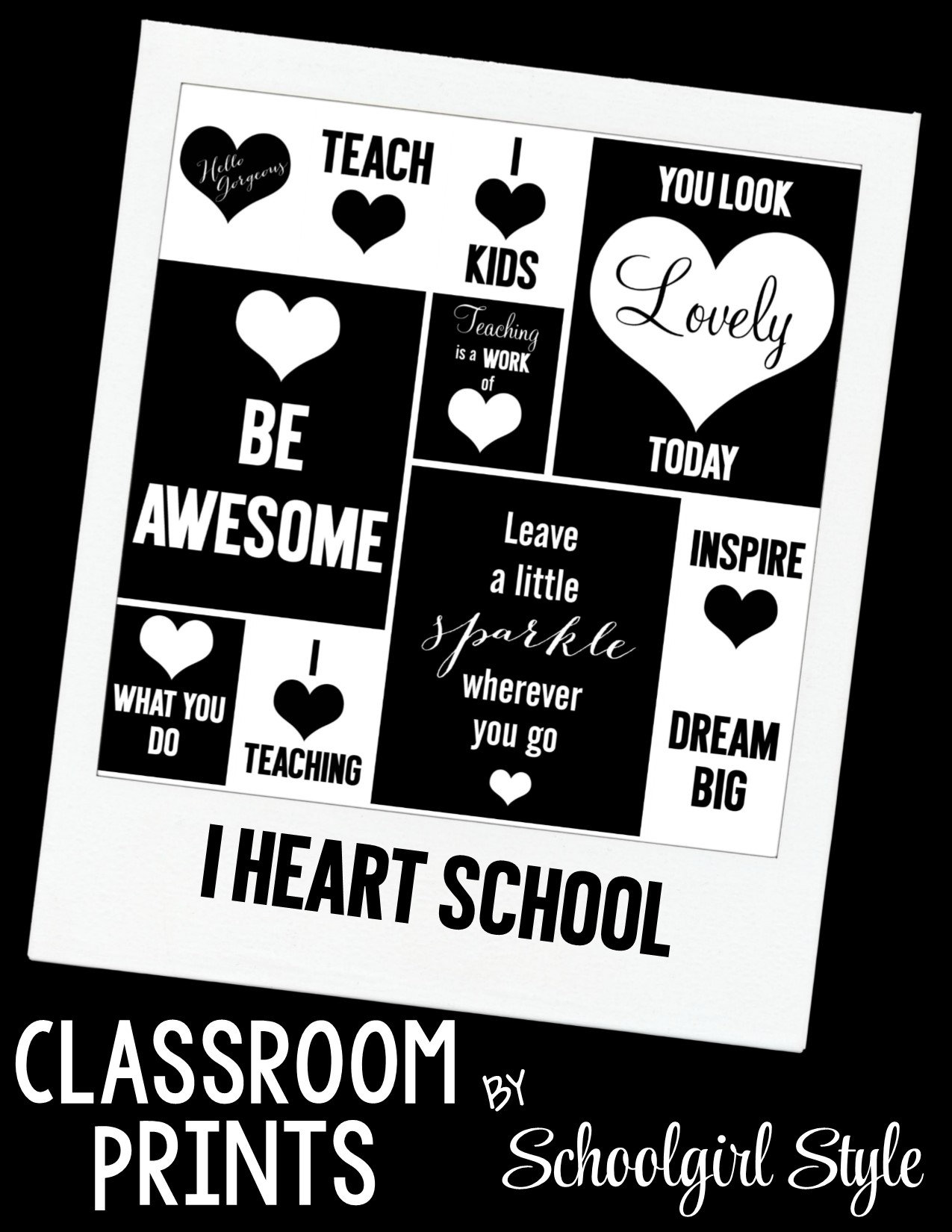 Classroom Prints by Schoolgirl Style