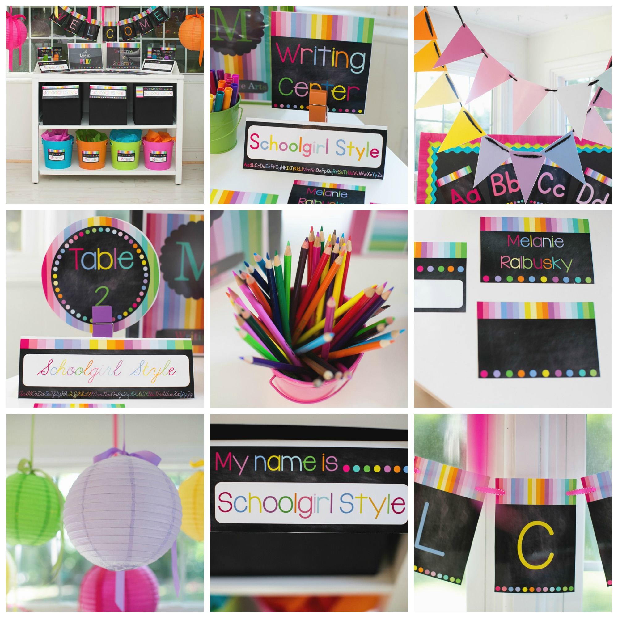 Rainbow Chalkboard  sc 1 st  SchoolgirlStyle : ideas for classroom decorations for teachers - www.pureclipart.com