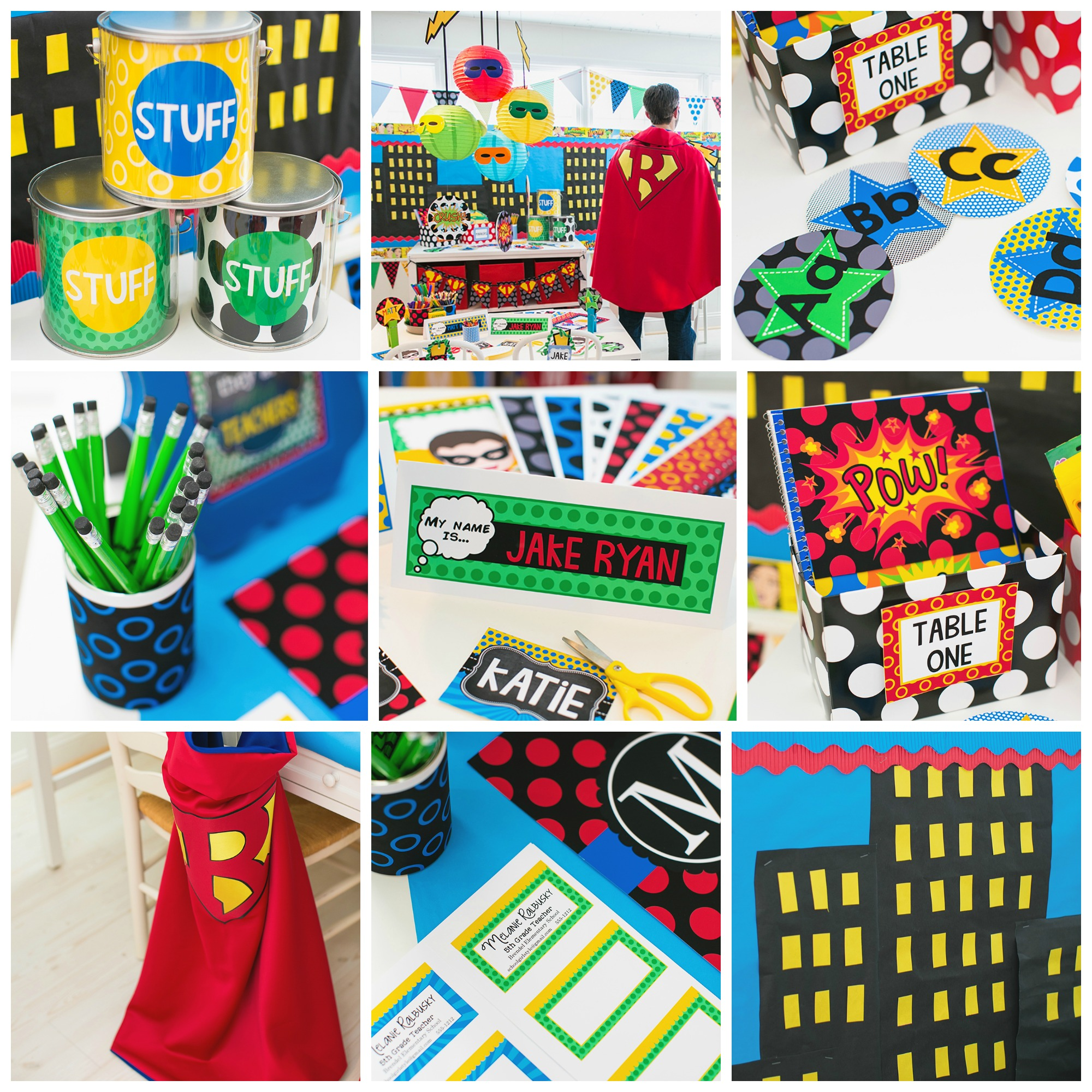Superhero Classroom Decor and Theme by Schoolgirl Style
