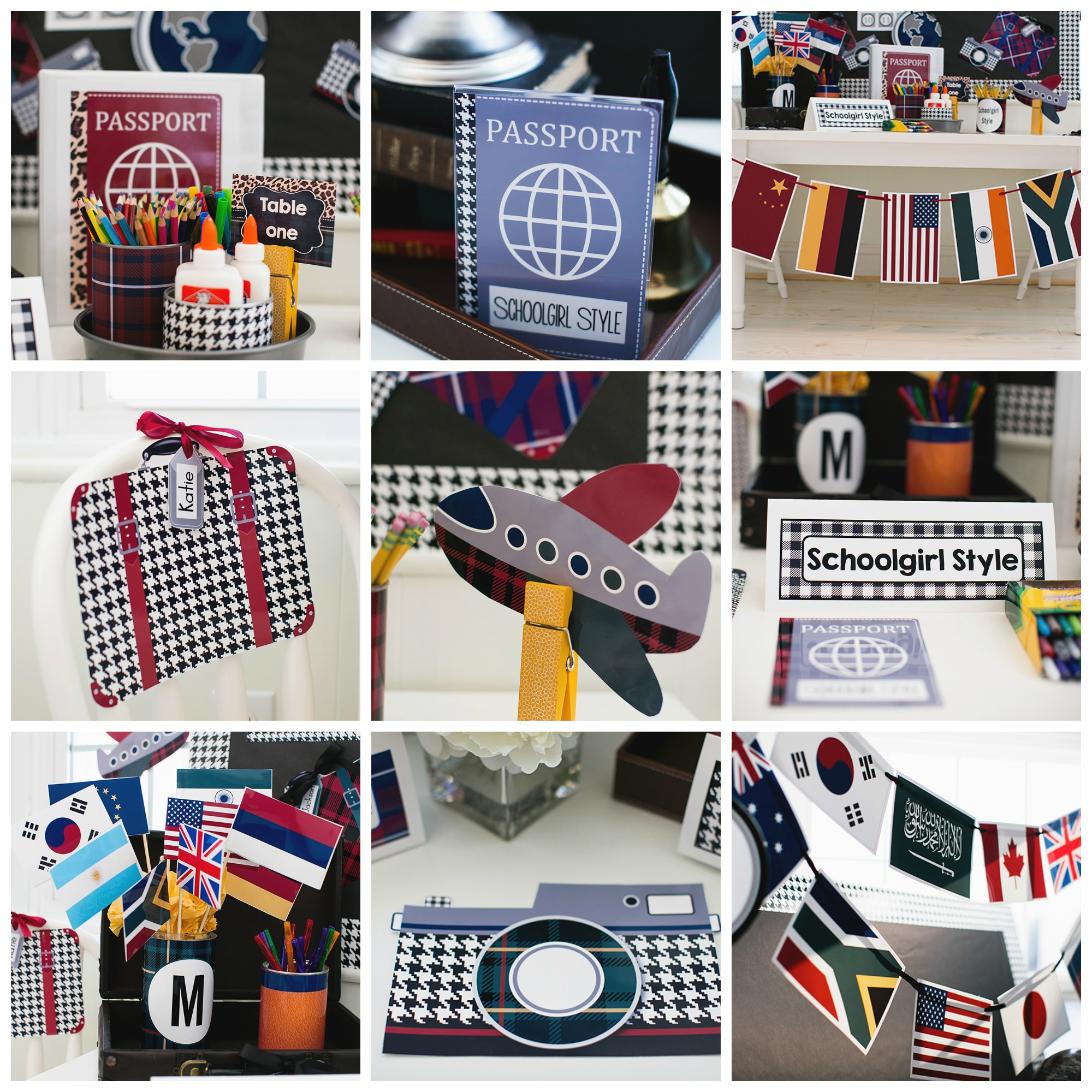 World Traveler Classroom Theme and Decor by Schoolgirl Style