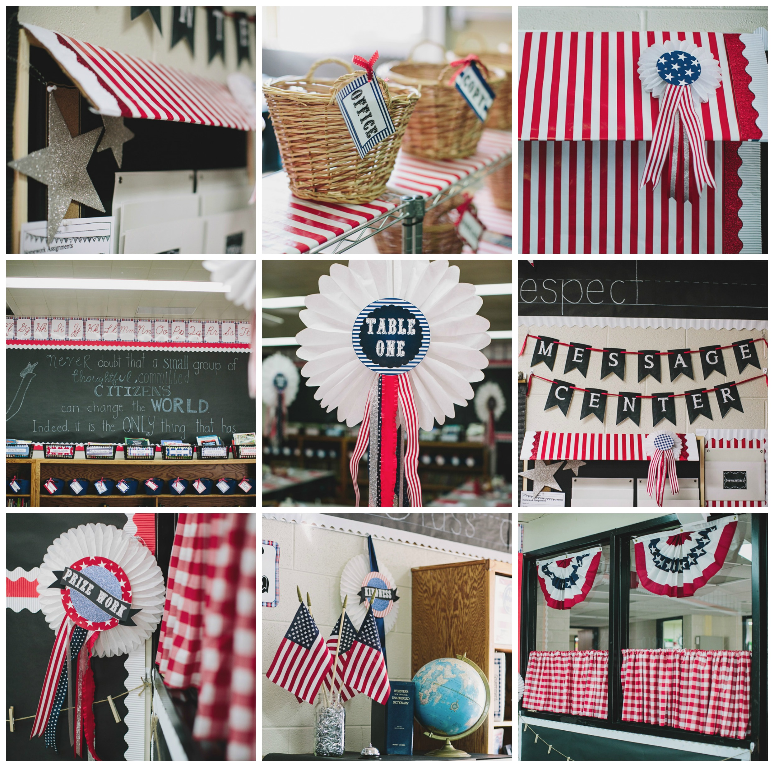 County Fair Americana red white blue classroom theme and decor by Schoolgirl Style