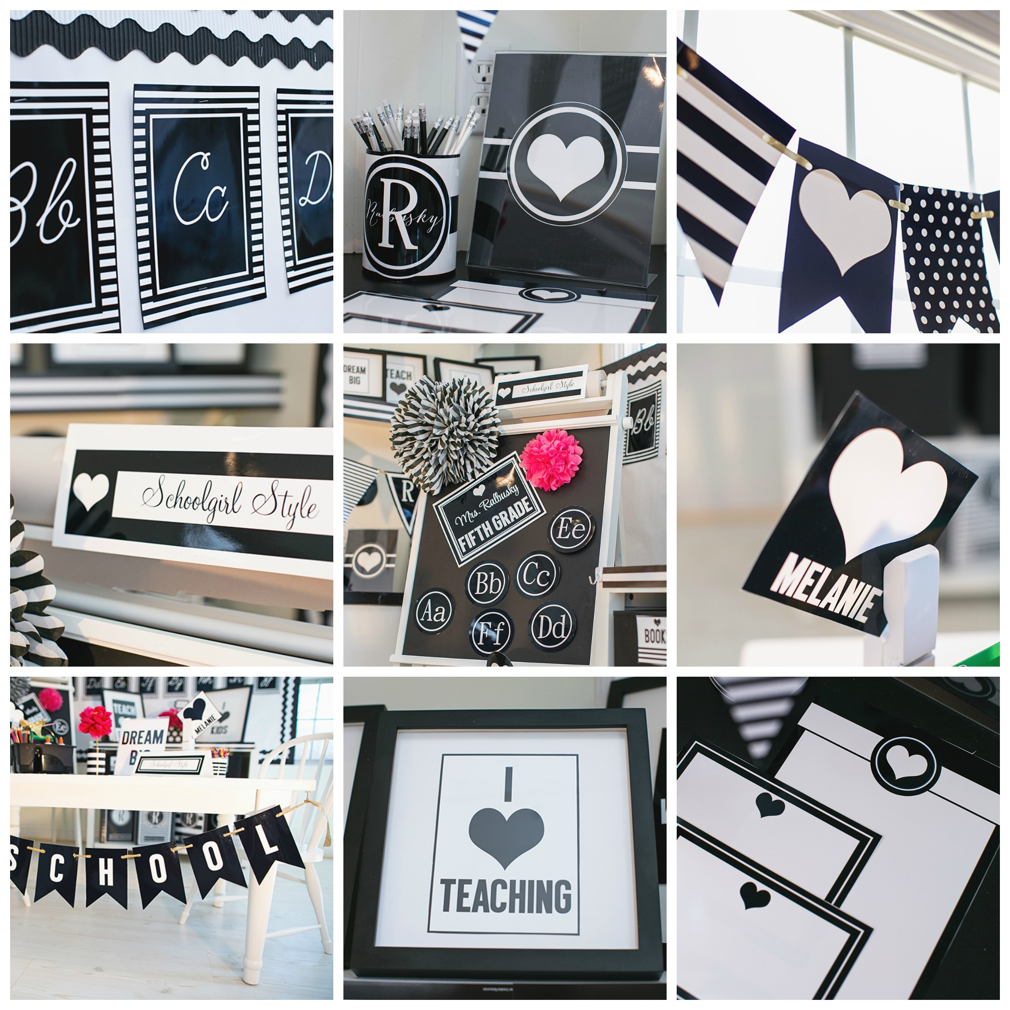 Classroom Decor Black ~ I heart school inspiration boards schoolgirlstyle