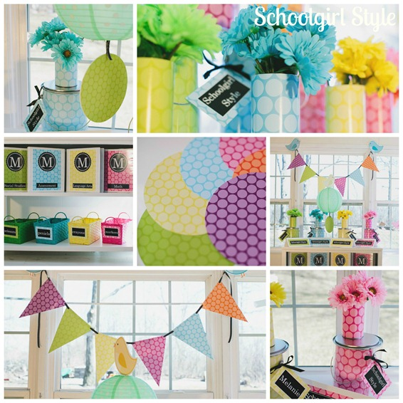 Polka dot party inspiration schoolgirlstyle for Polka dot decorations for bedrooms