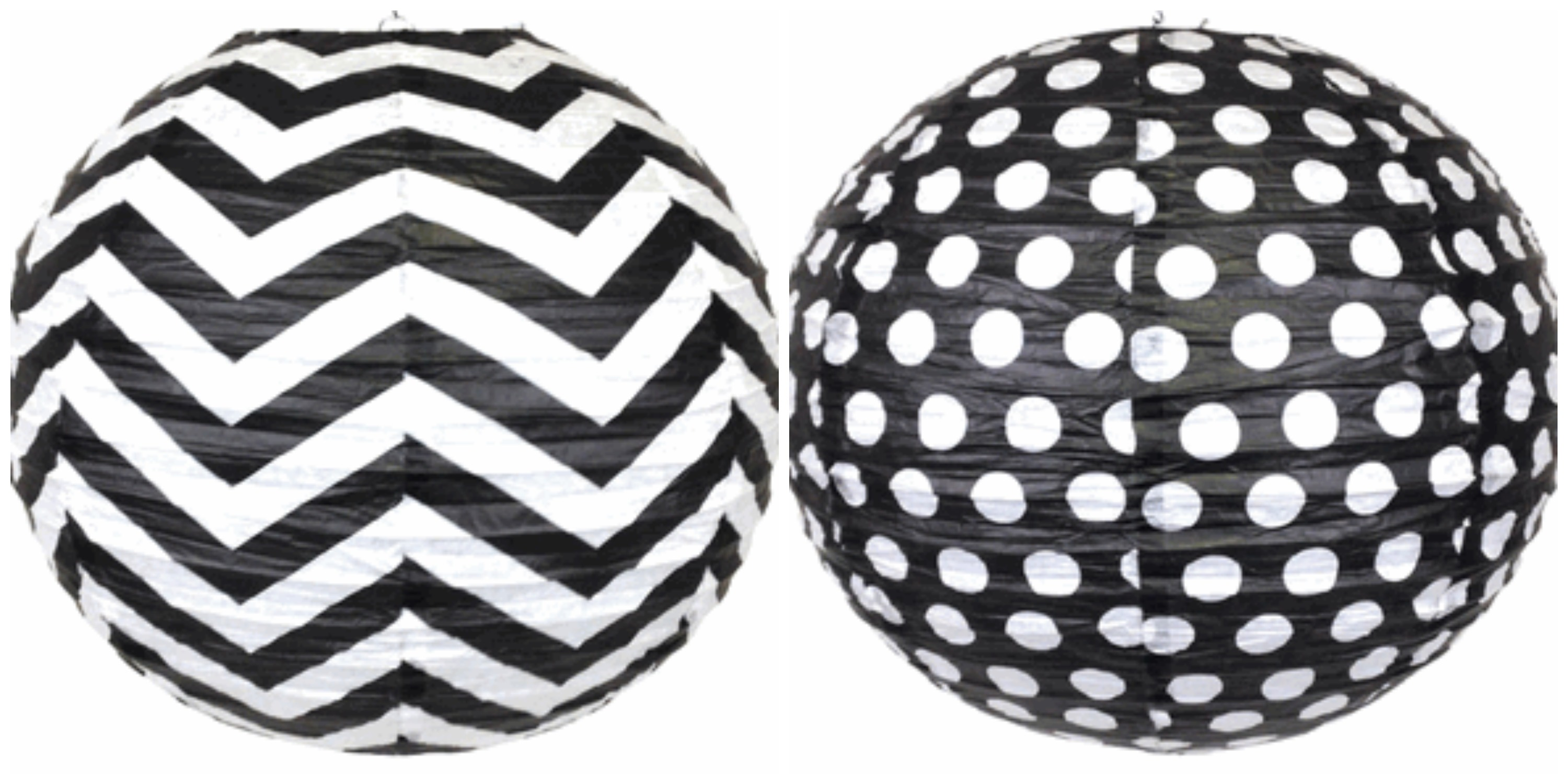 black and white chevron polka dots classroom decor by Schoolgirl Style