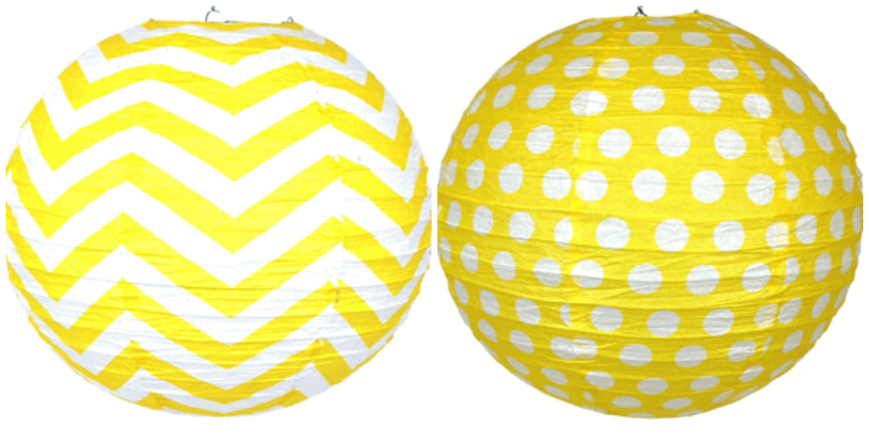 yellow and white chevron polka dots classroom decor by Schoolgirl Style