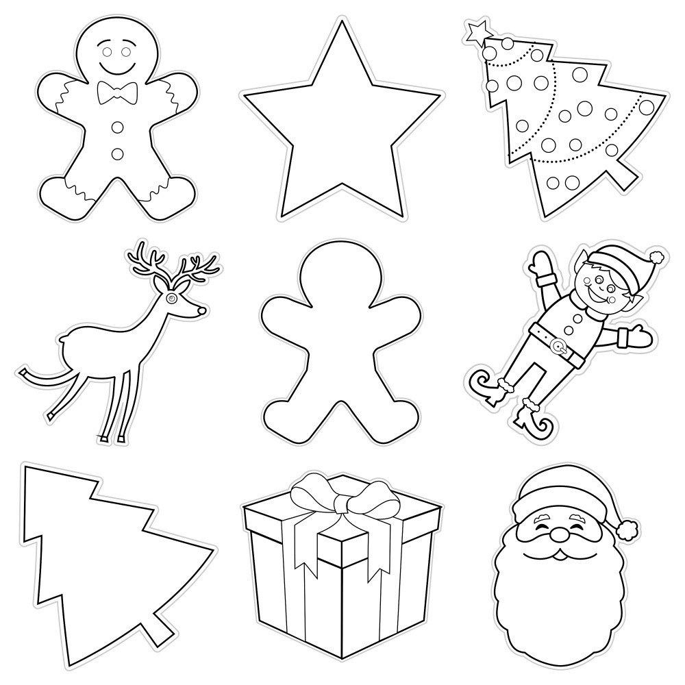 colormyclassroom_christmas_collage_1024x1024 - Cut Out Christmas Decorations